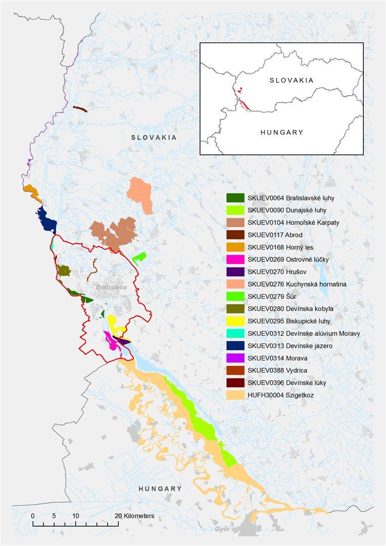 mapa projektového územia